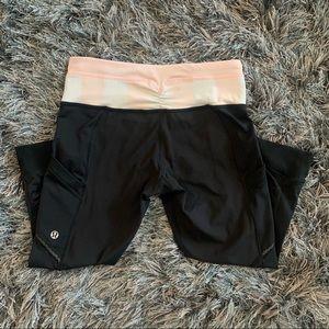 Lululemon crop side pocket leggings Black size 4